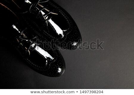 Frau weiblichen schwarz Plattform Schuhe Stock foto © Illia