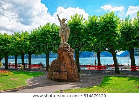 像 プール 湖 スイス 表示 風景 ストックフォト © lichtmeister