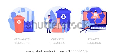 Mechanical recycling concept vector illustration. Stock photo © RAStudio
