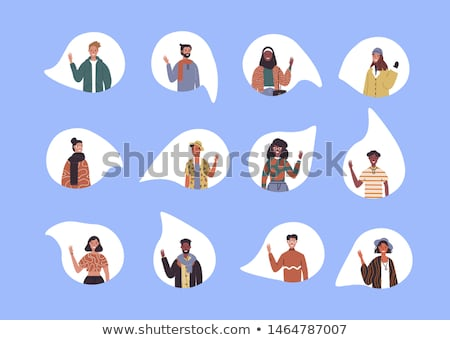 Diverse social culture young people set isolated Stock photo © cienpies