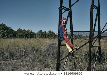 Scary clown opuszczony billboard kolorowy Zdjęcia stock © nito