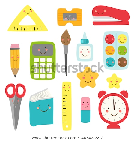 Alarm clock back to school funny cartoon character Vector watercolors Stock photo © frimufilms