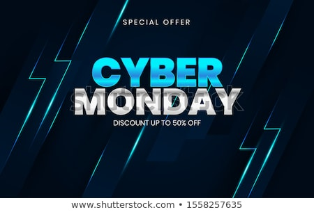 mega sale on cyber monday clearance neon sign stock photo © robuart