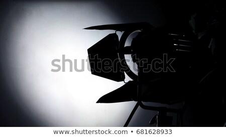 Cinema light stand on a commercial production shoot Stock photo © galitskaya