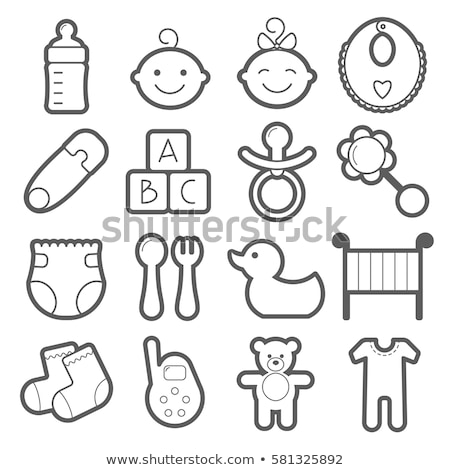 Childhood Nappy Icon Vector Outline Illustration Stock photo © pikepicture