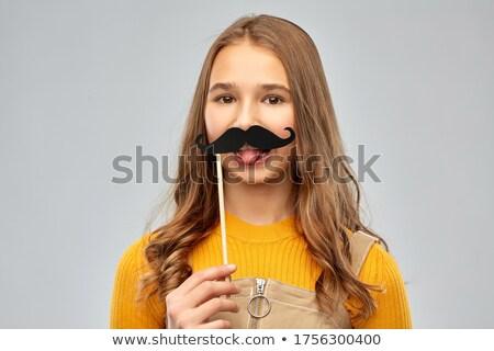 Rojo negro bigotes fiesta foto Foto stock © dolgachov