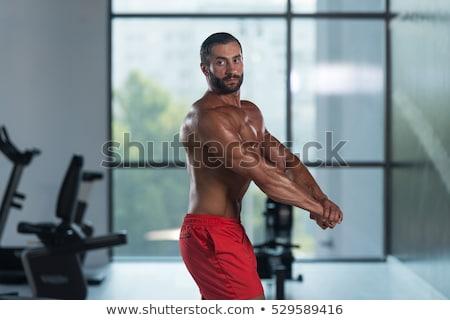Bodybuilder kant triceps lichaam bouwer Stockfoto © Jasminko
