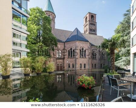 Markt kerk Duitsland rivier hemel Stockfoto © borisb17