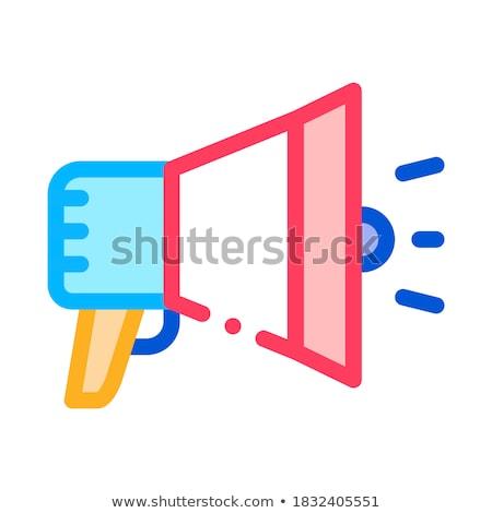 Głośnik megafon zwinny wektora ikona Zdjęcia stock © pikepicture