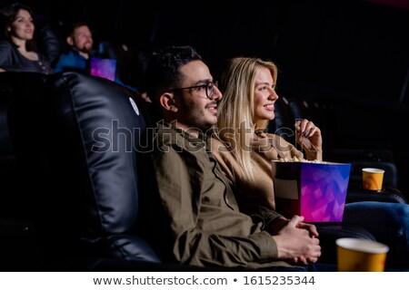 Boldog fiatal szerelmi pár megnyugtató mozi Stock fotó © pressmaster