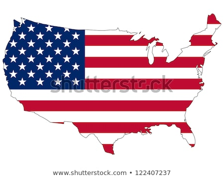 Map of United States of America, Flag of Country Stock photo © robuart