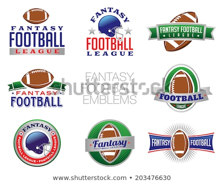 Amerykański fantasy piłka nożna piłka kask banner Zdjęcia stock © enterlinedesign
