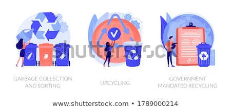 Waste collection and recycling problems abstract concept vector illustrations. Stock photo © RAStudio
