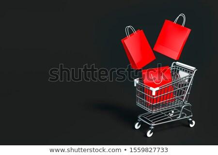 Metal black shopping basket 3D Stock photo © djmilic