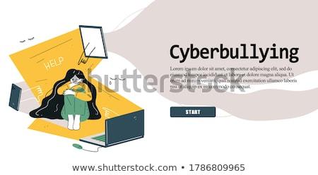 Leszállás oldal okostelefon zaklatott áldozat online Stock fotó © RAStudio