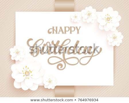 Sonnig Schriftkunst Grußkarte Hand gezeichnet handschriftlich Design Stock foto © ShustrikS