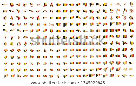 very big collection of vector flags of the Belgium Stock photo © butenkow
