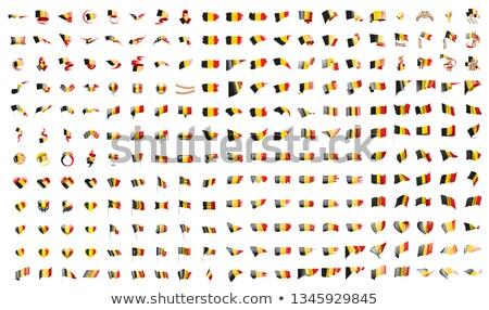 Büyük toplama vektör bayraklar Belçika dizayn Stok fotoğraf © butenkow