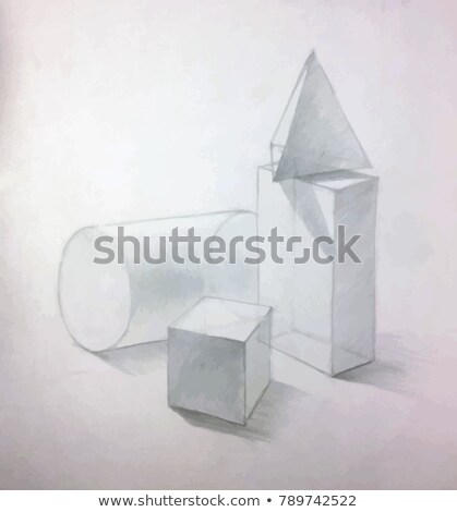 Still Life with plaster basic figures, academic drawing concept illustration Stock photo © evgeny89