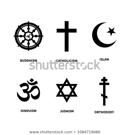 Set of main symbols of most common religions on white Stock photo © evgeny89