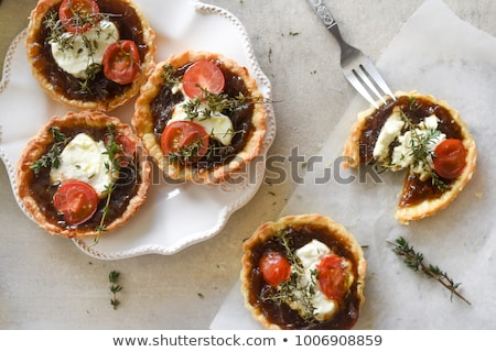 Stock photo: Goat cheese tartlet