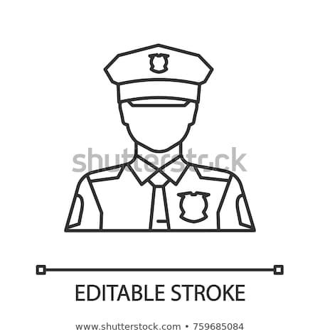 Guardia hombre icono vector ilustración Foto stock © pikepicture