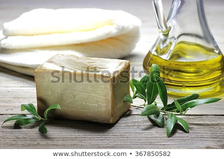 Olive oil cosmetics on table Stock photo © dashapetrenko