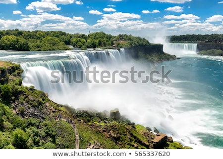 Niagara · Falls · toeristische · boot · natuur · groene · Blauw - stockfoto © vladacanon