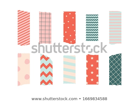 torn scrapbook tape or paper ribbon set Stock photo © SArts