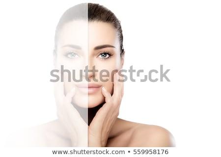 Szimmetrikus arc közelkép portré nő szexi Stock fotó © iko