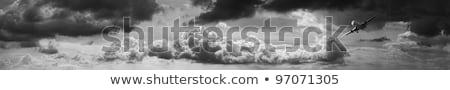 Jato escuro tempestuoso céu panorâmico imagem Foto stock © moses