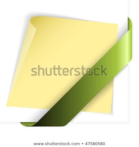 bandera · papel · etiqueta · símbolo - foto stock © orson