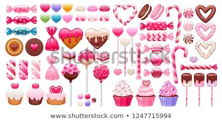 Amor postre crema placa corazones Foto stock © sahua