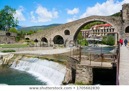Vue ville pont peu rivière eau Photo stock © arocas