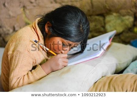 Szegény diák üzlet kezek modell fiú Stock fotó © leeser
