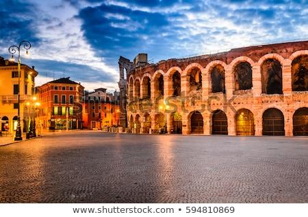 Aréna Verona Olaszország Colosseum részletek tájkép Stock fotó © vladacanon