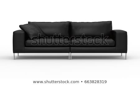 black sofa isolated on white Stock photo © ozaiachin