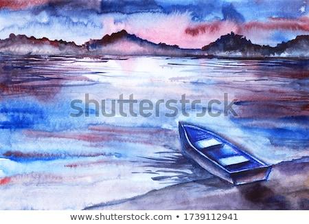 cruzeiro · barco · mar · reflexão · backlight - foto stock © lunamarina