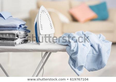 buhar · demir · mavi · gömlek · arka · plan · renk - stok fotoğraf © agorohov