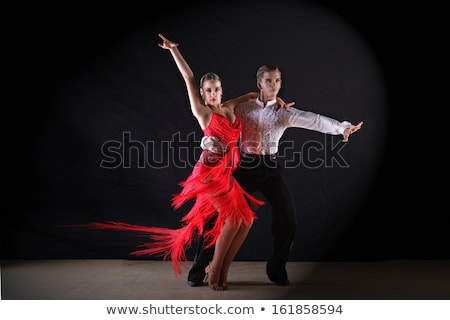 tánc · pár · fiatal · pér · nehéz · tánc · mozgás - stock fotó © feedough