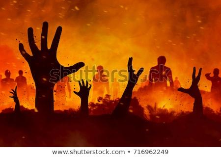 Mãos inferno abstrato oração padrão Ásia Foto stock © koratmember