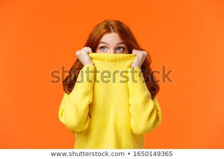 Pretty Redhead Glancing Sideways Stock photo © stryjek