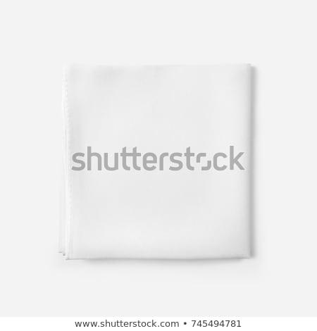 zsebkendő · összehajtva · fehér · papír · izolált · szépség - stock fotó © photography33