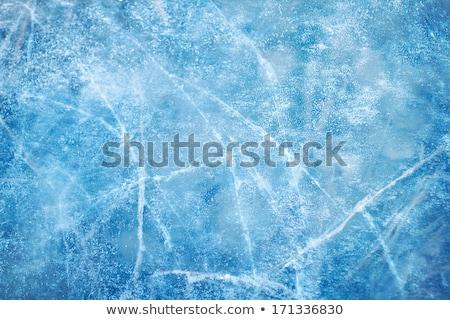 abstract blue winter background the frozen ice texture stock photo © konstanttin