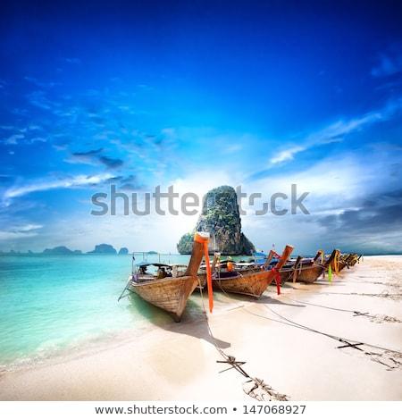 лодках · Таиланд · пляж · лет · океана · лодка - Сток-фото © pakhnyushchyy