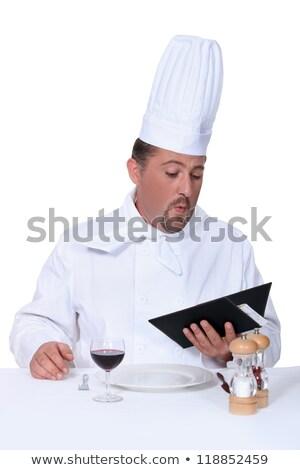 portret · uśmiechnięty · kucharz · gotować · łyżka - zdjęcia stock © photography33