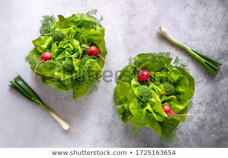 Brócolis simétrico comida natureza jantar garfo Foto stock © TheProphet