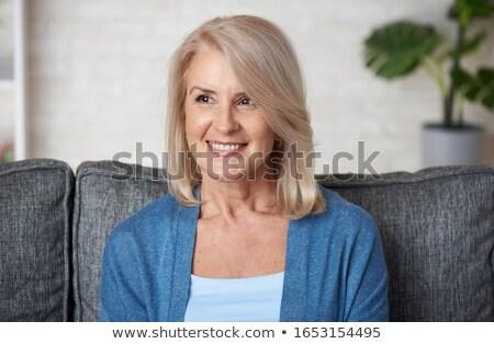 portrait of beautiful mature blonde lady Stock photo © photography33