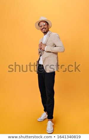 Masculine african man Full-length portrait Stock photo © stockyimages