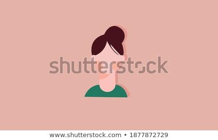 menina · suspensórios · make-up · remoção · branco · cara - foto stock © massonforstock